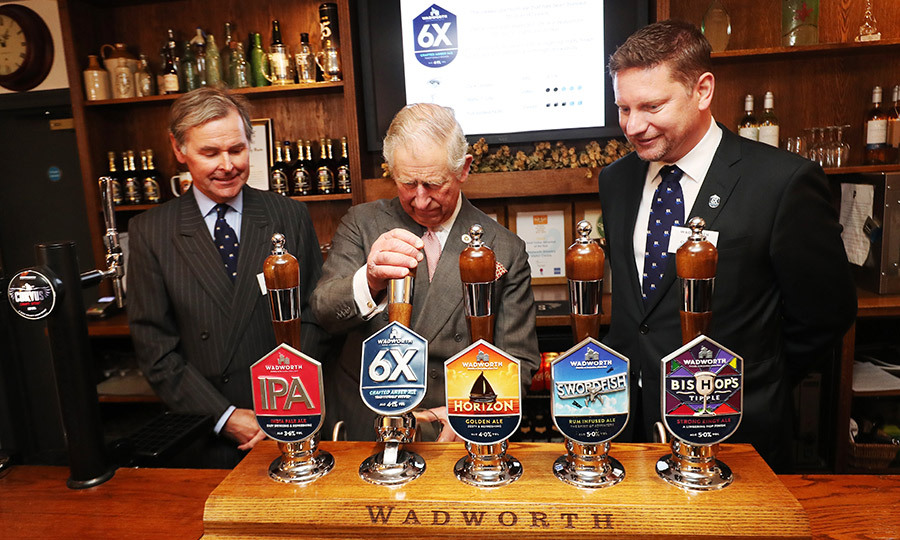 Prince Charles poured himself a pint of beer at the Wadworth Brewery on Mar. 17 in Wiltshire, England. The family-owned brewery is part of the Prince's Pub is the Hub Initiative, which aims to help keep local pubs thriving in their communities. 