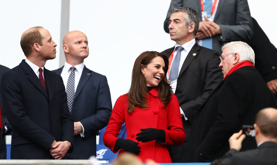 Will and Kate's final engagement in Paris was more entertainment than work as they cheered on Wales as they took on France in the Six Nations match.