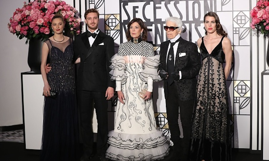 Three weeks after welcoming her son Stefano, Beatrice Borromeo slipped back into couture to join her husband Pierre Casiraghi and the rest of the Grimaldi clan to celebrate this year's Bal de la Rose. 