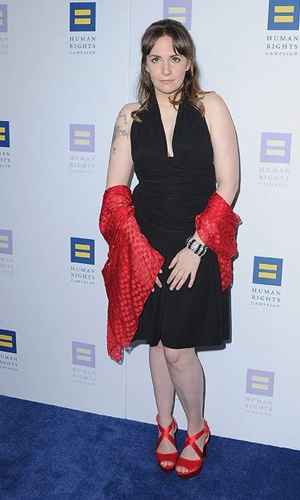 Lena Dunham at the Human Rights Foundation Gala.