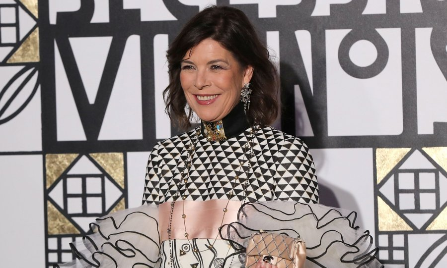 A Chanel-clad Princess Caroline hosted the Rose Ball at Sporting Monte-Carlo on March 18. 