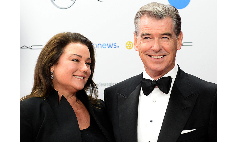 Pierce and his wife Keely Shaye Smith.