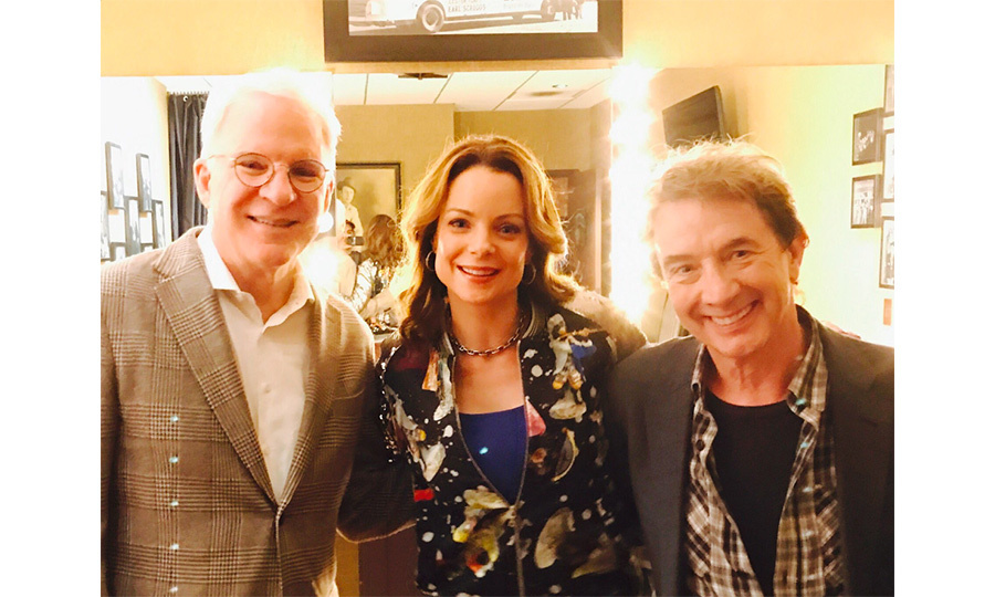 <strong>Mar. 19:</strong> <em>Father of the Bride</em> reunion!!! Kim Williams-Paisley, Steve Martin and Martin Short shared a happy reunion backstage following Steve and Martin's performance at the Grand Ole Opry in Nashville on Sunday night. The trio starred in both the 1991 original film <em>Father of the Bride</em> and its sequel <em>Father of the Bride Part II</em> in 1995. 