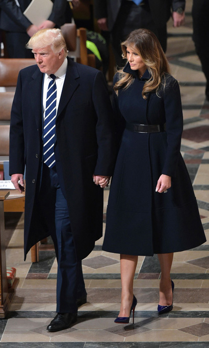 "<p>On January 21, the day after her husband's presidential inauguration, Melania stepped out to the National Prayer Service sporting an understated cashmere coat, which was a collaboration between herself and Alice Roi. ""She definitely knew what she wanted. She knows clothing well and she's very direct. She has a wonderful, chic sense of style. That's something no matter what you put on her she kind of exudes. It's very guiding for the designer because you know exactly what to do to get in line with her right away,"" Alice told WWD.</p><p>Photo: MANDEL NGAN/AFP/Getty Images</p>"