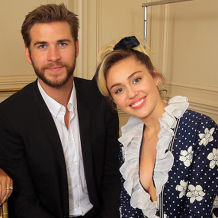 <h2>Liam Hemsworth and Miley Cyrus</h2>
