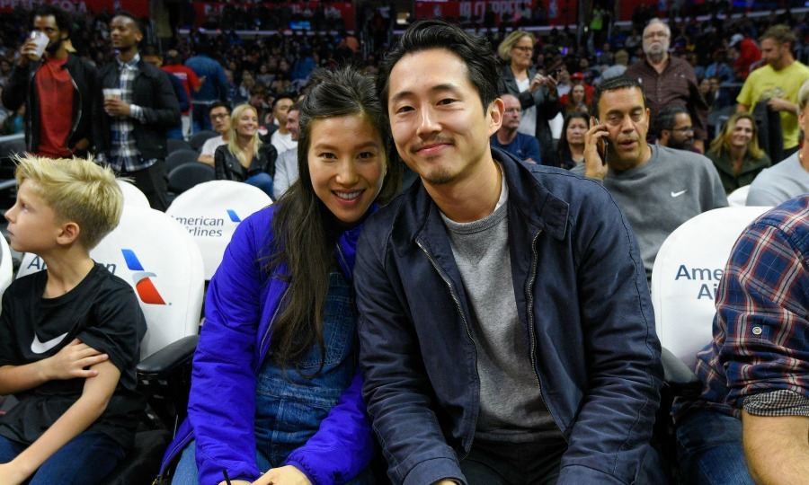 <h2>Steven Yeun and Joana Pak</h2>