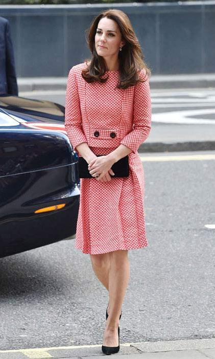 The Duchess of Cambridge first wore this Eponine skirt suit in 2016.