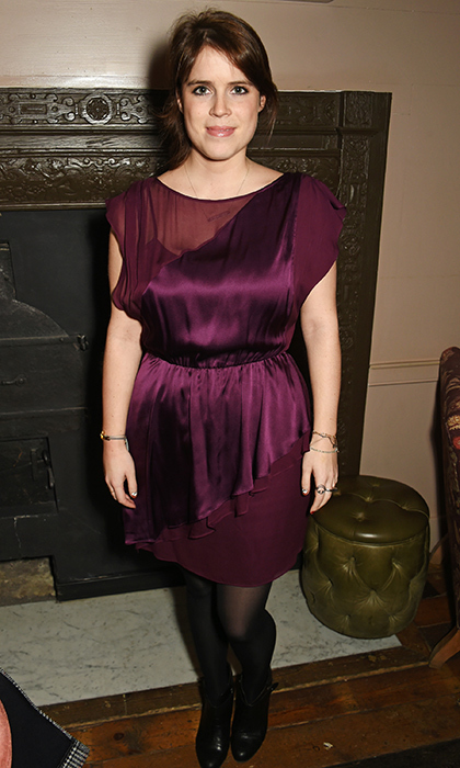 Princess Eugenie wore a two-tone cocktail dress to rub shoulders with Hollywood moguls at a special screening of <em>Lion</em> at London's Soho House on Dec. 19, 2016 