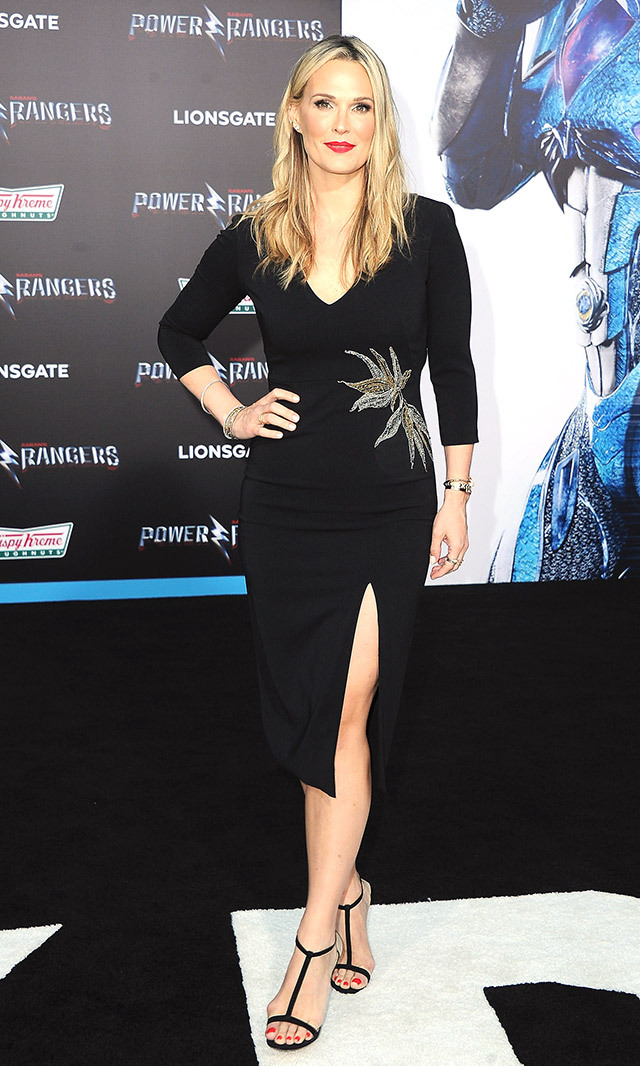 Molly Sims donned the perfect little black dress with an embellished bird detail by Mestiza New York at the Hollywood premiere of <em>Power Rangers </em>. <p> Photo: © Getty Images </p>