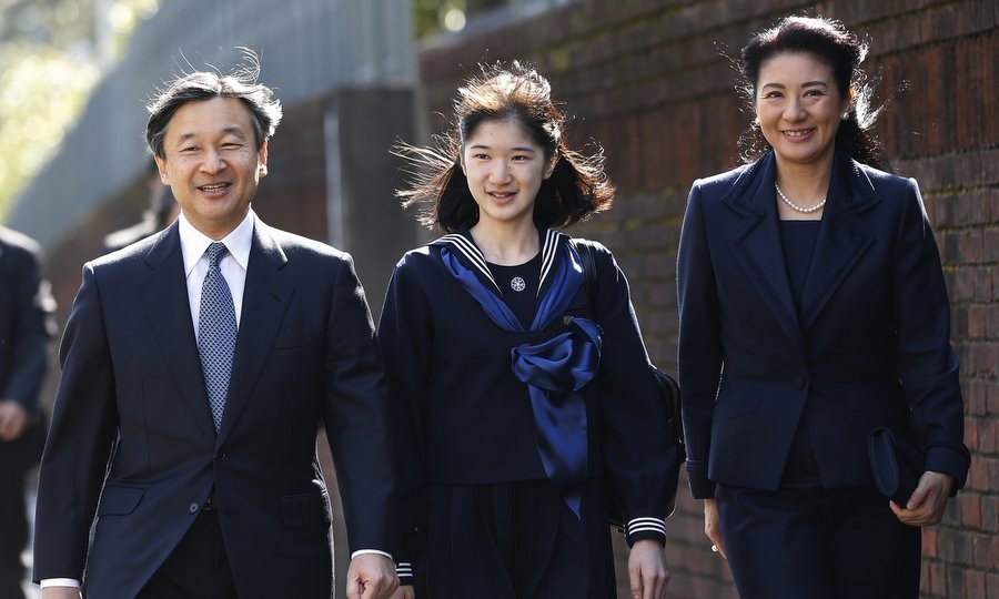 Princess Aiko of Japan's mom and dad, Crown Prince Naruhito and Crown Princess Masako, couldn't have looked more proud as they joined their daughter at her graduation ceremony at the Gakushuin Girls' Junior High School in Tokyo on Mar. 22.