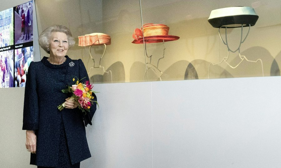 Hats off to Princess Beatrix! The royal, who was Queen of the Netherlands from 1980 until 2013, celebrated her famous toppers at a new exhibition at the Paleis Het Loo in Apeldoorn on Mar. 22.