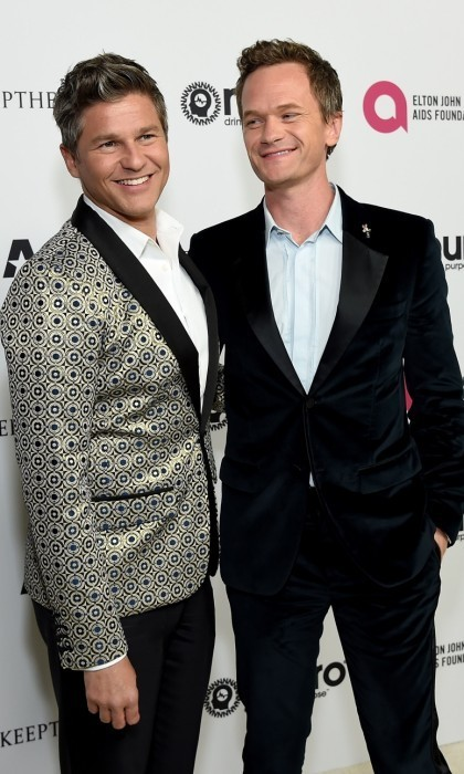 Neil Patrick Harris and his husband David Burtka were also on hand to celebrate with Elton.