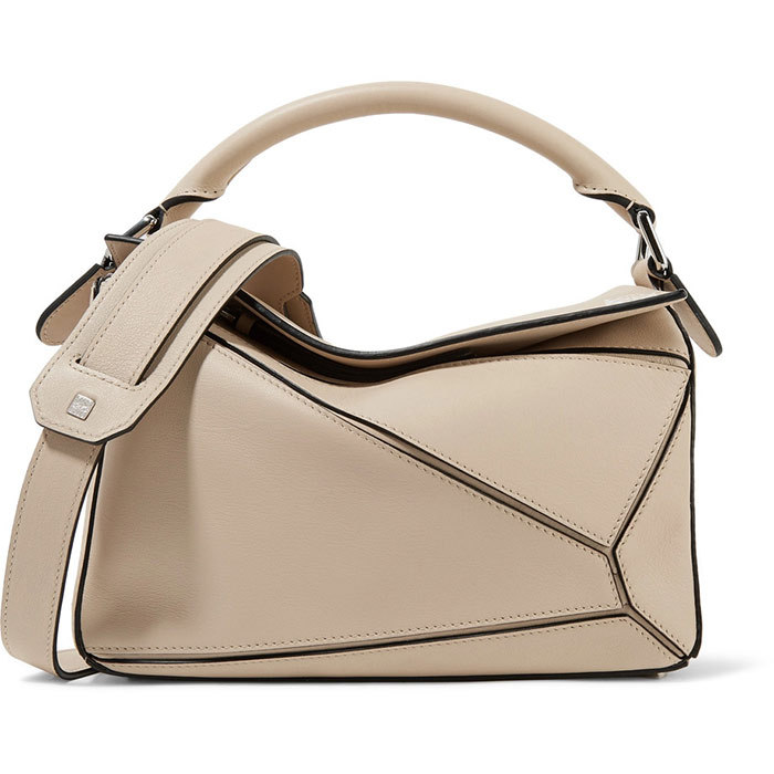 <p>Loewe Mini Puzzle Calfskin Leather Bag in Ash, $1,990, <em>nordstrom.com</em></p>