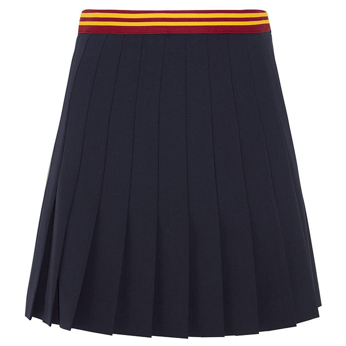 <p>Miu Miu Pleated Wool-Blend Mini Skirt, $1,475, <em>net-a-porter.com</em></p>