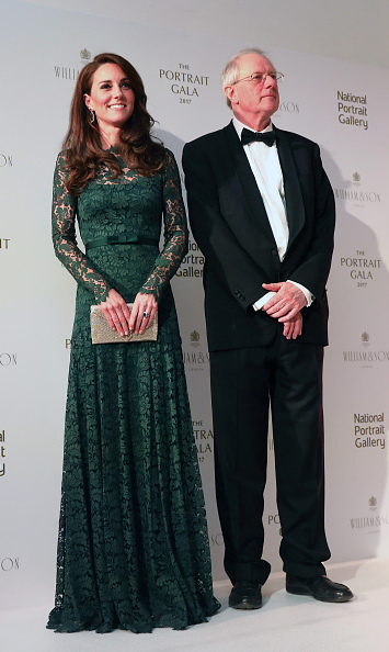 <p>The Duchess posed alongside Chair of Trustees William Proby at the start of the event.</p><p>Photo: &copy; Getty Images</p>
