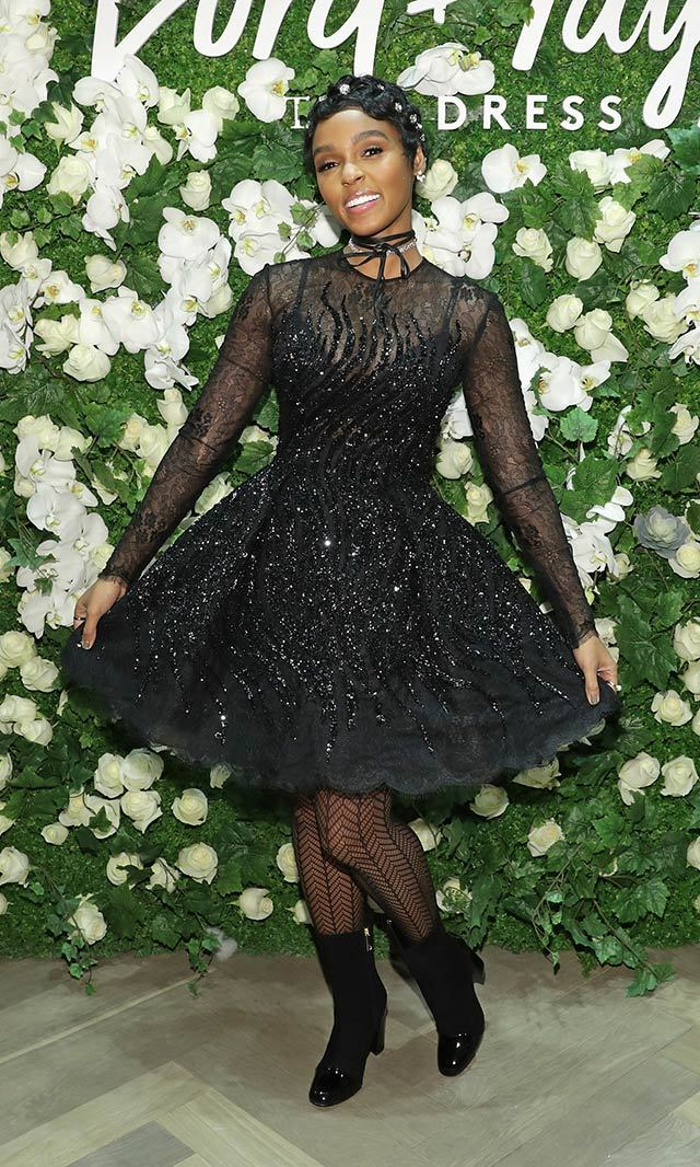 Janelle Monae was a dreamy vision in this romantic black sequinned Zuhair Murad dress at the Lord & Taylor Celebrates The Dress Address event in New York. <p>Photo: © Getty Images</p>