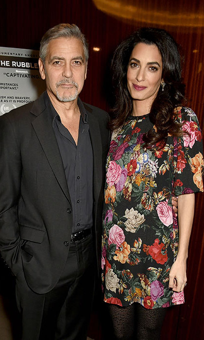 Earlier this year, George, 55, and his wife Amal, 39, confirmed they are expecting twins later this year.