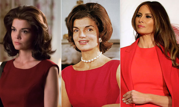 As Katie Holmes reprises her role as JFK's iconic wife on screen in <em>The Kennedys: After Camelot</em> we look back at the famous First Lady's influence on White House fashion for decades to come - from Betty Ford to Melania Trump...