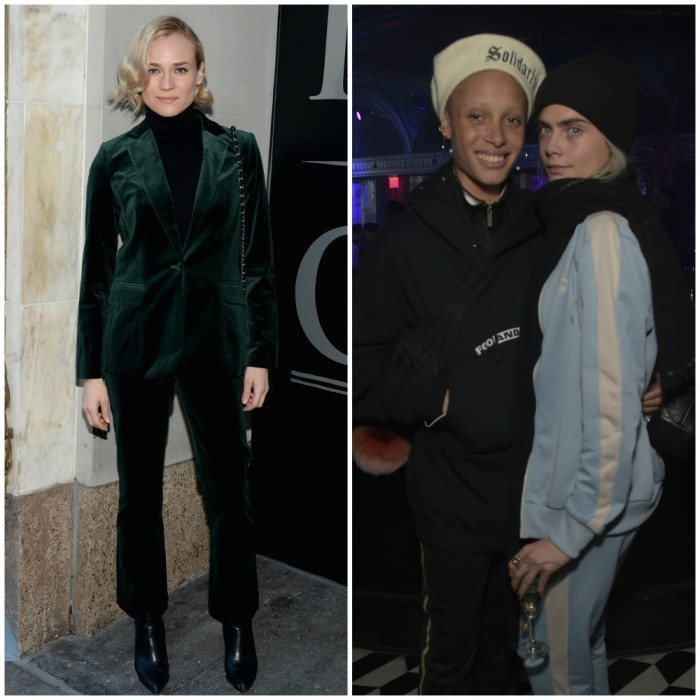 <h4>Apr.l 1:</h4> Diane Kruger and Cara Delevingne were among the big names in attendance at a special performance of Hamilton on Broadway. The style stars attended the American Express Celebrates The New Platinum Card With Hamilton Takeover Experience in New York City.