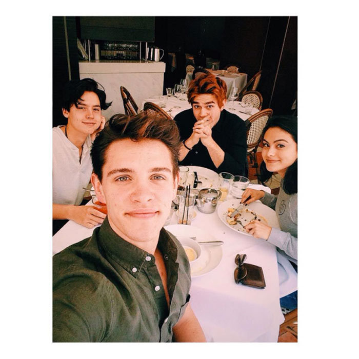 <h2><strong>They eat together</strong></h2><p>The cast that eats together stays together. Cast members Casey, Cole, KJ and Camila were spotted enjoying each other's company while eating a delicious meal in B.C.</p><p>Photo: © Instagram</p>