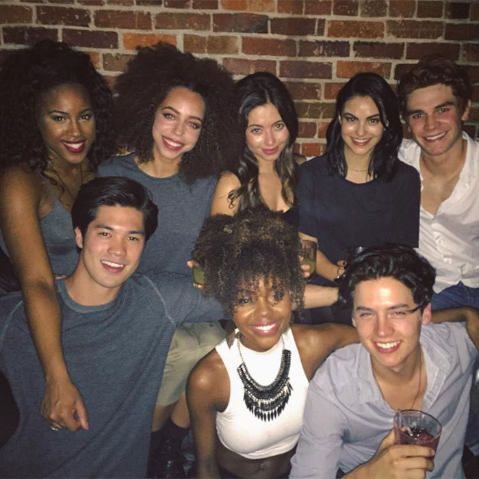 <h2><strong>They know how to have a good time on and off screen</strong></h2><p>While taking a break from shooting the series, co-stars KJ Apa, Cole Sprouse, Camila Mendes, Asha Bromfield, Hayley Law, Ross Butler, and Ashleigh Murray all grabbed drinks at a local bar in Vancouver where the show is filmed.</p><p>Photo: © Instagram</p>