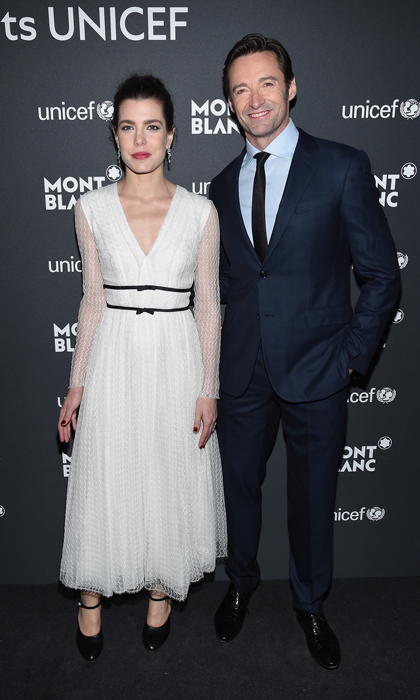 Charlotte Casiraghi mixed and mingled with Hollywood's elite, including Hugh Jackman, at the Montblanc & UNICEF Gala Dinner held in New York City.