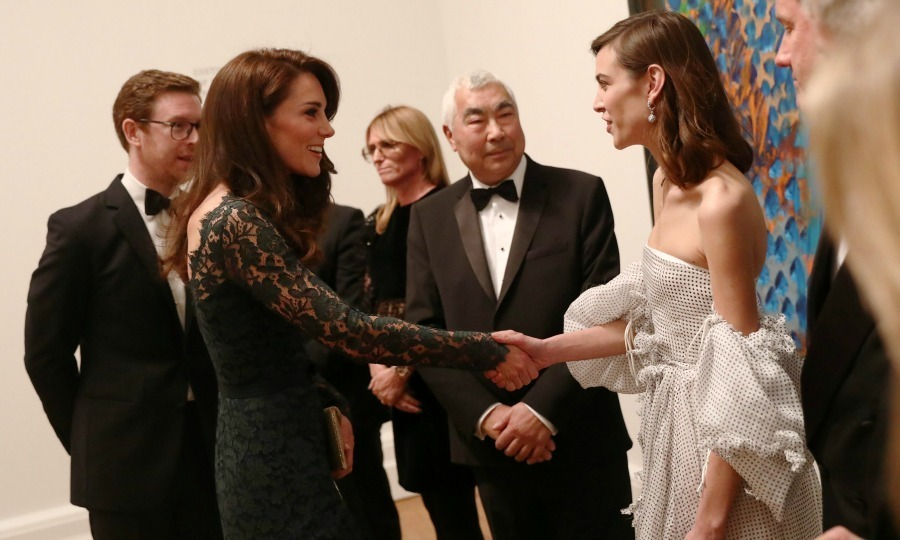 Getting artsy! Alexa Chung had a friendly meeting with Kate during the 2017 Portrait Gala in London. During the affair at the National Portrait Gallery, Alexa also introduced the Duchess to her father Philip.