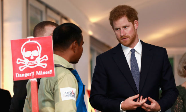 Prince Harry spoke to guests at the Landmine Free World 2025 Reception on Tuesday 
