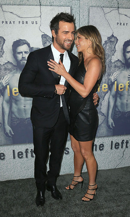 Justin and Jennifer at the season three premiere for <em>The Leftovers</em>