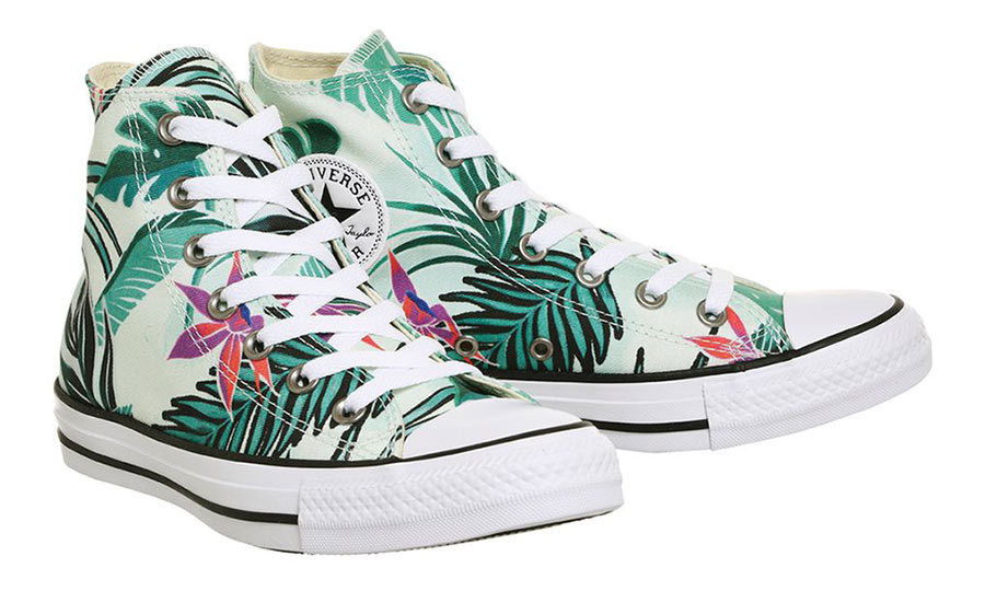 <h3>Planet Earth</h3><p>All Star Hi Top Trainers by Converse, $91, <em>topshop.com</em></p>