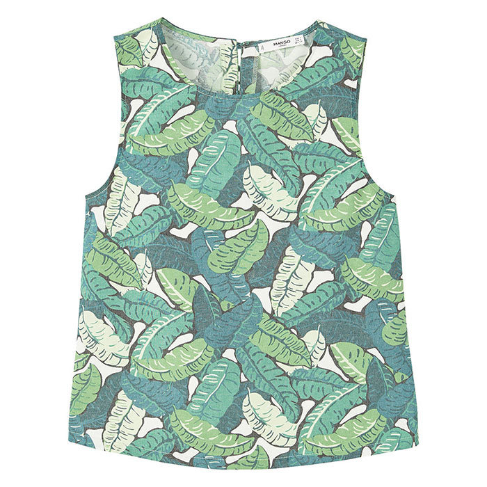 <h3>Planet Earth</h3><p>Tropical Print Top, $50, <em>mango.com</em></p>
