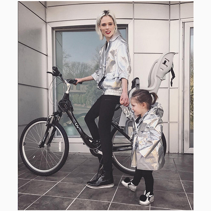 "<h4>Apr. 4:</h4> What's better than rocking the season's metallic trend? Rocking the trend with your little girl! It was Coco Rocha's time to shine with her daughter Ioni in this Instagram snap. ""When you're home from work in time to go for a bike ride with your best friend,"" the supermodel captioned the adorable shot. 