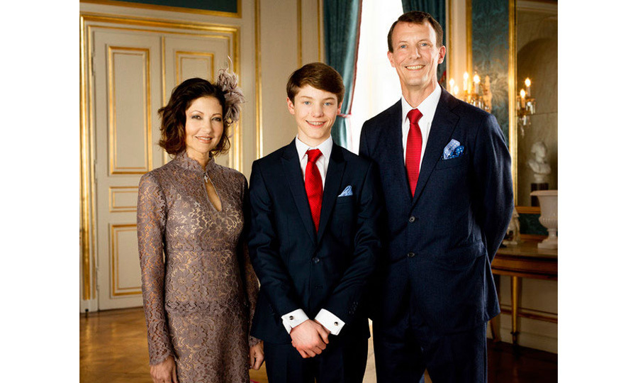 Prince Joachim and Countess Alexandra of Frederiksborg, who split in 2005, reunited for their teenage son, Prince Felix's confirmation, which was held at Fredensborg Palace on April 1.
