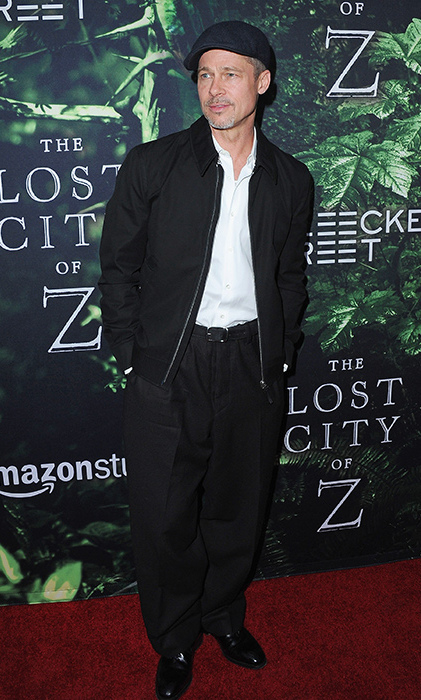 Brad Pitt attended the <em>Lost City of Z</em> premiere in LA on Wednesday night.