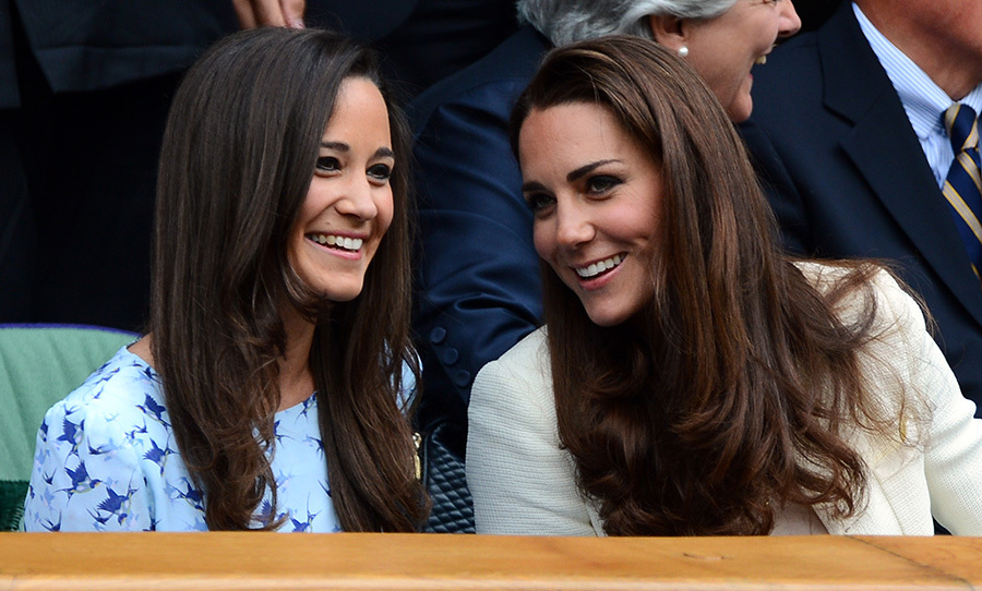 Pippa Middleton and sister Kate, pictured at Wimbledon, are incredibly close.