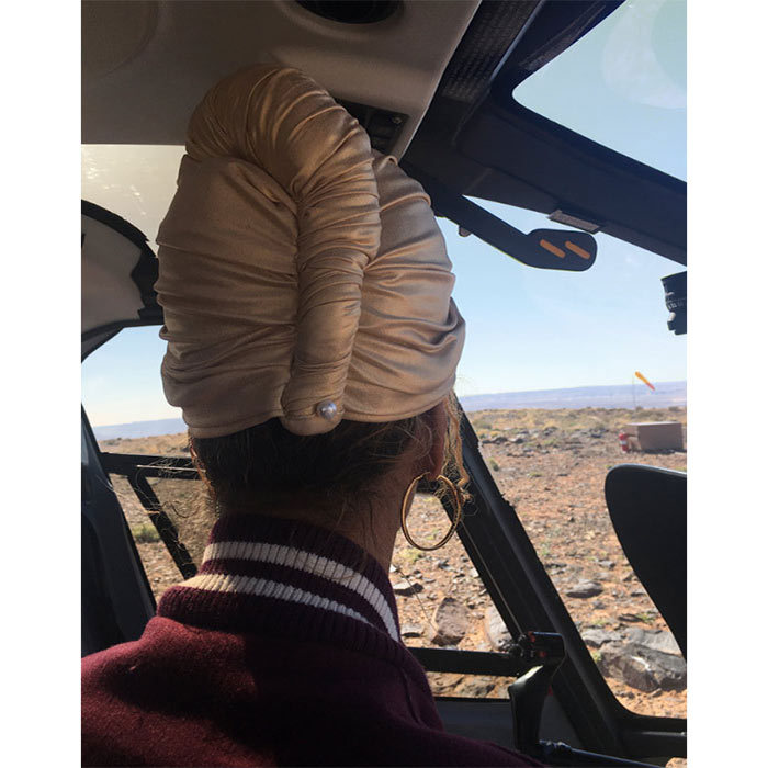 Jay Z captured a photo of Beyoncé gazing out of the window across the Grand Canyon from their private helicopter ride.