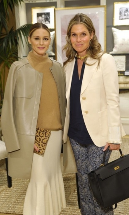 <h4>Apr. 6:</h4> Aerin Lauder posed with Olivia Palermo at a breakfast launch of the AERIN by Williams Sonoma collection. The event, which was held at the Columbus Circle Williams Sonoma in New York City, marked Williams Sonoma's first home décor collaboration in its 60-year history with luxury lifestyle brand AERIN. 