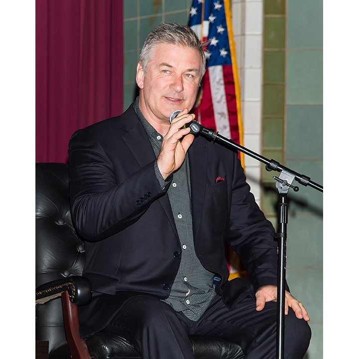 <h4>Apr. 7:</h4> Alec Baldwin promoted his new memoir <em>Nevertheless</em> during an interview at Penn Museum of Archaeology and Anthropology in Philadelphia.