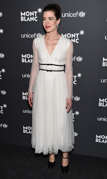 Monaco royal Charlotte Casiraghi was chic in Giambattista Valli at the Montblanc & UNICEF Gala Dinner in New York.