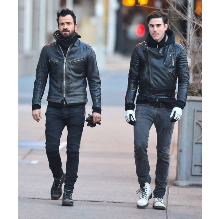 <h2>Justin Theroux and Sebastian Theroux</h2>