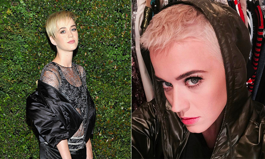 Katy Perry transformed her hair yet again! Less than a month after debuting a platinum pixie cut, the singer shaved off more inches from her hair, citing model Agyness Deyn as the inspiration behind the bold new look. 