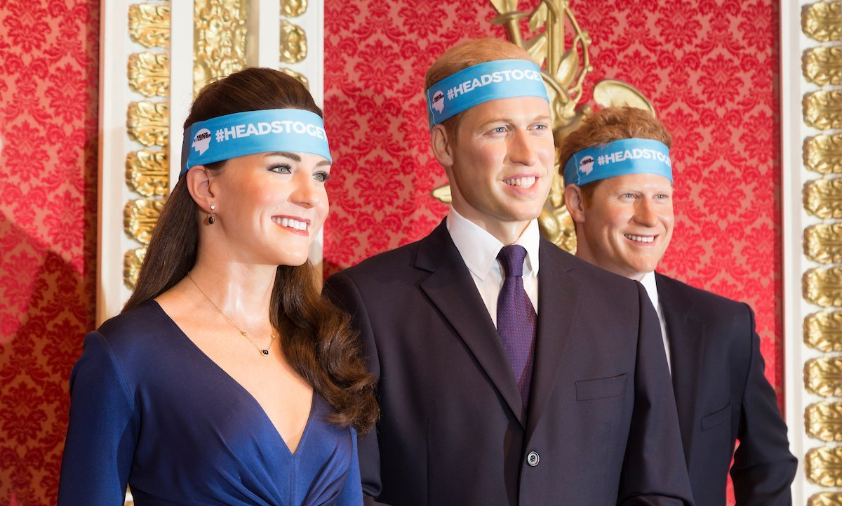 Prince William, Kate and Prince Harry's wax figures at London's Madame Tussauds Museum received a very special makeover this week. To support the royal trio's Heads Together initiative, which raises awareness for mental health, Will, Kate and Harry are now sporting the same headbands runners will wear at the upcoming London Marathon on April 23. 