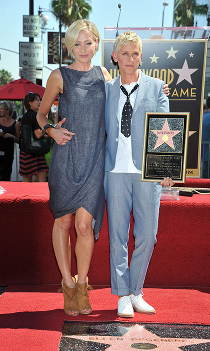 <h3>Ellen Degeneres and Portia de Rossi</h3><p>They&rsquo;re compatible in more ways than one! Ellen and Portia are known to walk the red carpet in comple&shy;mentary outfits, just like they did when the beloved daytime talk show host was presented with her star on the Hollywood Walk of Fame in 2012.</p><p>Photo: &copy; Getty Images</p>