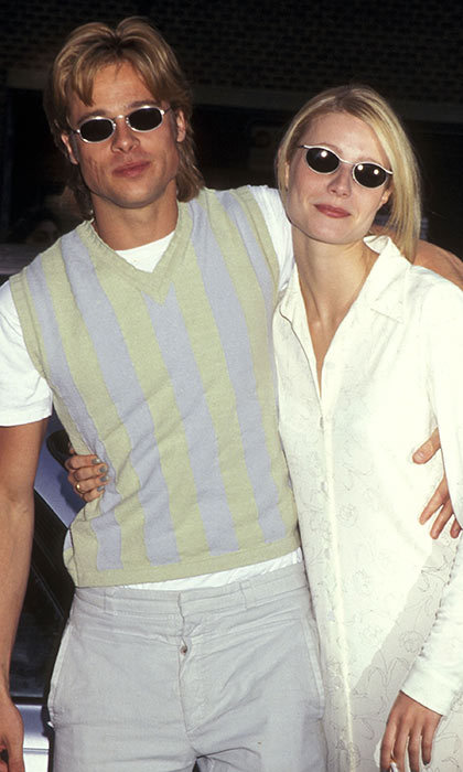 <h3>Brad Pitt and Gwyneth Paltrow</h3><p>They made the seamless transition from co-stars to celebrity couple after working on the 1995 thriller <em>Seven</em>. A year later, it looked like they&rsquo;d traded style tips when they arrived at the New York premi&egrave;re of her romantic comedy <em>The Pallbearer</em> in similar sunglasses and classic separates. Brad proposed in 1996, but the stars decided there might be better matches for them out there in 1997.</p><p>Photo: &copy; Getty Images</p>