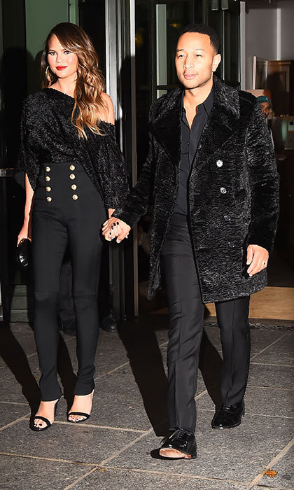 <h3>Chrissy Teigen and John Legend</h3><p>If there&rsquo;s a constant among Chrissy and John&rsquo;s outfits, it&rsquo;s that they&rsquo;re always glamorous. Even if they choose similar clothes &ndash; like the head-to-toe black outfits they wore in New York in 2016 &ndash; Chrissy says they aren&rsquo;t bothered by it. &ldquo;We&rsquo;ve definitely walked out of the closets and said, &lsquo;Oh my gosh: We&rsquo;re both wearing hound&shy;stooth. This is embarrassing,&rsquo;&rdquo; she admits. &ldquo;But we also don&rsquo;t really care.&rdquo; Now they have fun choosing adorable looks for their daughter Luna.</p><p>Photo: &copy; Getty Images</p>