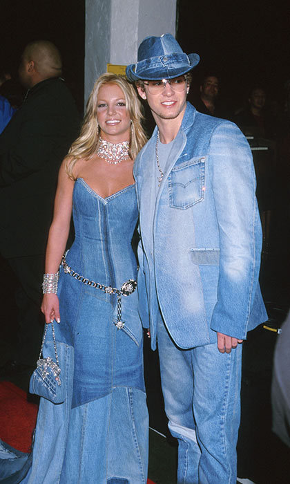 <h3>Britney Spears and Justin Timberlake</h3><p>Taking a fashion risk is easy when you have your partner by your side. In 2001, the reigning prince and princess of pop did just that when they turned up at the American Music Awards in their red-carpet take on the Canadian tuxedo. The stars, then 19, were happy to be decked out in denim that night, but their coordinated outfits &ndash; and their romance &ndash; were a thing of the past a year later.</p><p>Photo: &copy; Getty Images</p>