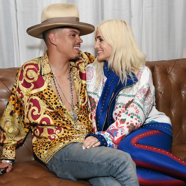 Lovebirds Evan Ross and Ashlee Simpson had eyes only for each other at the NEW Limited Edition CIROC Summer Colada party at the Hard Rock Hotel Palm Springs. 