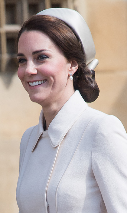 Kate looked lovely in Catherine Walker. 