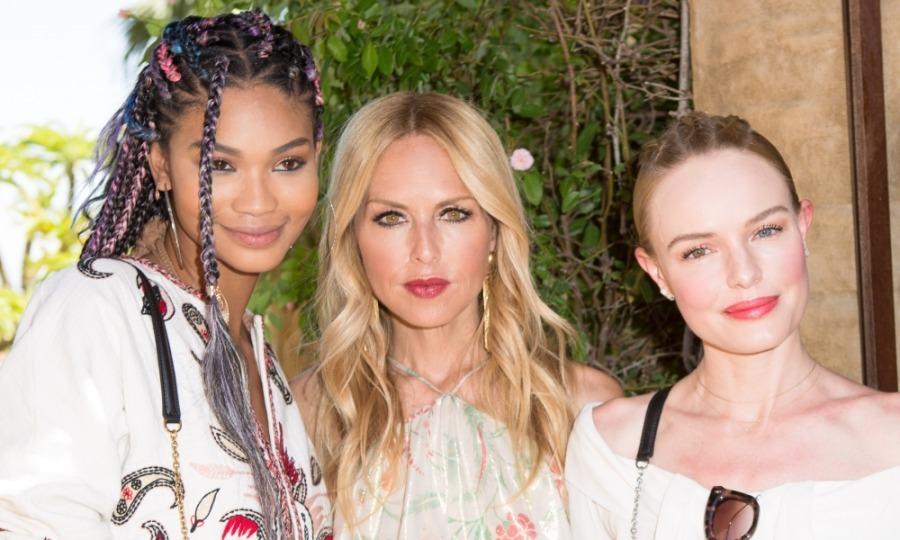 The Zoe Report and Rachel Zoe hosted the third annual ZOEasis Style Retreat in Palm Springs to celebrate festival season! Seen here, Chanel Iman, Rachel Zoe, and Kate Bosworth glittered in the sunlight.