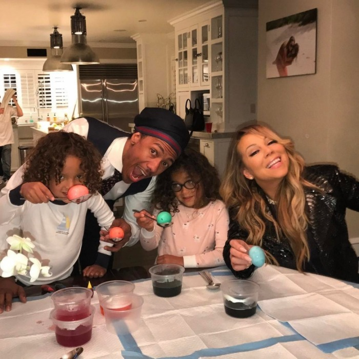 <h4>Mariah Carey and Nick Cannon reunited for some family Easter fun!</h4>